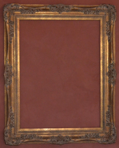 "FM 665 - Gold Metal Leaf M Tone, DNPSW, 5 3/8"" Width  X  2"" Hight  The Frame in this Image is 30""  x  40"" (Art Size)"