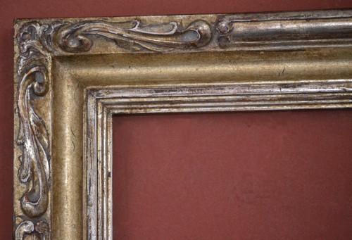 "C-O3 Hand Carved, Plein Air, 12 Karat Genuine Gold leaf  Width 3 1/2""  X   1 3/4"" Hight"