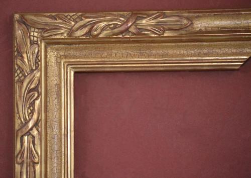 """C - Alfredo - Hand Carved, Plein Air, 22 Karat Genuine Gold leaf  Width 3 1/2""""  X   1 3/4"""" Hight"""