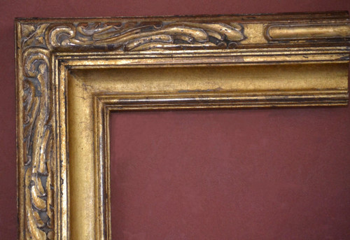 "C - Cabrillo - Hand Carved, Plein Air, 22 Karat Genuine Gold leaf  Moulding Width 3 7/8""  X   2 1/4"" Hight  Rabbet Size: 9/16""  Hight  x  3/8"" Width"