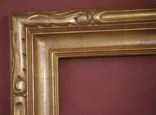 "C - Carmel - Hand Carved, Plein Air, 22 Karat Genuine Gold leaf  Moulding Width 3 5/8""  X   2 1/2"" Hight  Rabbet Size: 3/4""  Hight  x  1/4"" Width"