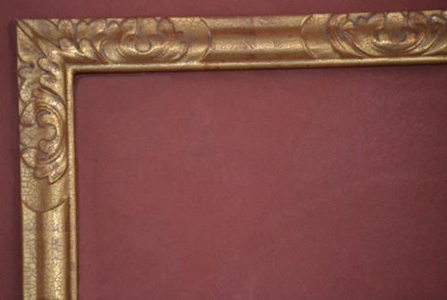 "C - Champion - Hand Carved, Plein Air, 22 Karat Genuine Gold leaf  Moulding Width 2""  X   1 1/4"" Hight  Rabbet Size: 9/16""  Hight  x  3/8"" Width"