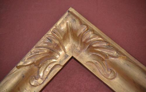 "C - D1 - Hand Carved, Plein Air, 22 Karat Genuine Gold leaf  Moulding Width 2 3/4""  X   1 3/4"" Hight  Rabbet Size: 1/2""  Hight  x  5/16"" Width"