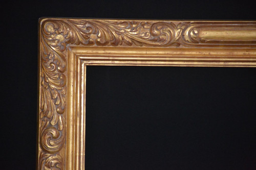 "C - EPI - Hand Carved, Plein Air, 22 Karat Genuine Gold leaf  Moulding Width 5""  X   1 3/4"" Hight  Rabbet Size: 7/16""  Hight  x  1/2"" Width"