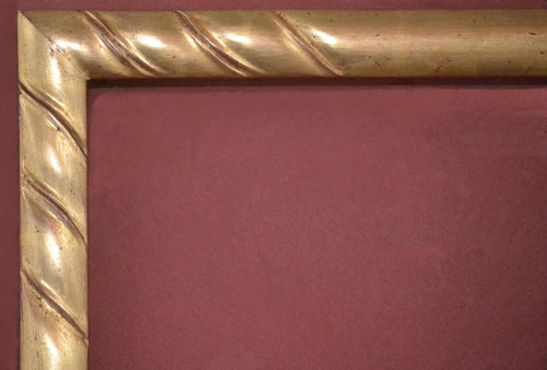 "C - Miguel - Hand Carved, Plein Air, 22 Karat Genuine Gold Leaf  Moulding Width 1 5/8""  X   1 1/2"" Hight  Rabbet Size: 1 1/8""  Hight  x  1/4"" Width"