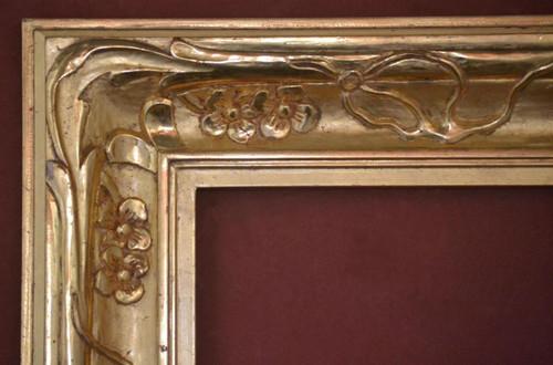 "C - Red Fern - Hand Carved, Plein Air, 22 Karat Genuine Gold Leaf  Moulding Width 4 5/8""  X   1 3/4"" Hight  Rabbet Size: 1/2""  Hight  x  7/16"" Width"