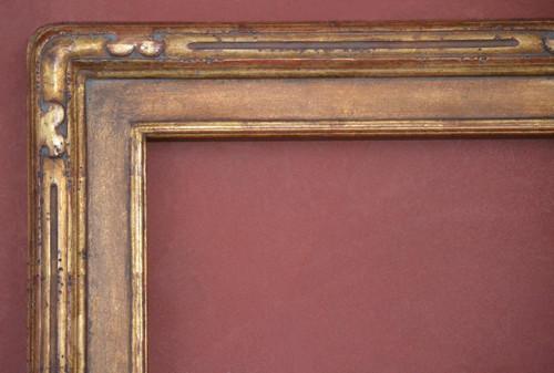 "C - Tauszky - Hand Carved, Plein Air, 22 Karat Genuine Golld Leaf  Moulding Width 3 3/4""  X   1 3/4"" Hight  Rabbet Size: 3/4""  Hight  x  5/16"" Width"