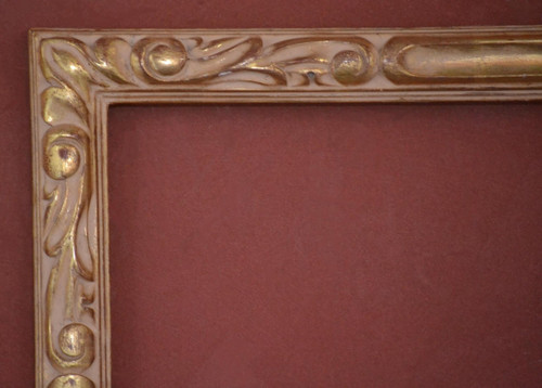 "C - Trojan - Hand Carved, Plein Air, 22 Karat Genuine Golld Leaf  Moulding Width 1 3/4""  X   1 1/4"" Hight  Rabbet Size: 5/8""  Hight  x  5/16"" Width"