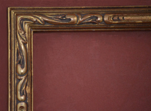"C - Nico carve - Hand Carved, Plein Air, 22 Karat Genuine Golld Leaf  Moulding Width 2""  X   1 7/8"" Hight  Rabbet Size: 1 1/4""  Hight  x  5/16"" Width"