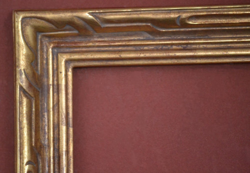 "C - 468 - Hand Carved, Plein Air,  22 Karat Genuine Gold Leaf  Moulding Width 2 3/8""  X   1 1/4"" Hight  Rabbet Size: 3/8""  Hight  x  3/8"" Width"