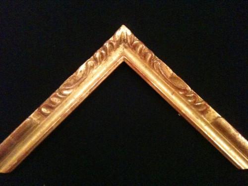 "C - 558 - Hand Carved, Plein Air, 22 Karat Genuine Gold Leaf  Moulding Width 1 1/2""  X   3/4"" Hight  Rabbet Size: 3/8""  Hight  x  1/4"" Width"