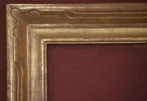 "C - 685 - Hand Carved, Plein Air, 22 Karat Genuine Gold Leaf  Moulding Width 3 3/4""  X  1 7/8"" Hight  Rabbet Size: 1/2""  Hight  x  3/8"" Width"