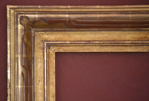 "C - 685 Large - Hand Carved, Plein Air, 22 Karat Genuine Gold Leaf  Moulding Width 4 3/4""  X  1 3/4"" Hight  Rabbet Size: 1/2""  Hight  x  7/16"" Width"