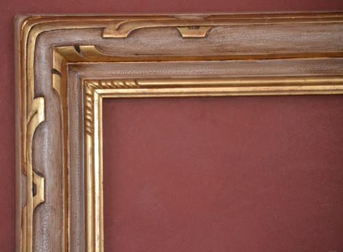 "C - 1921 - Hand Carved, Plein Air, 22 Karat Genuine Gold Leaf & Stonehenge  Moulding Width 5""  X  1 3/4"" Hight  Rabbet Size: 7/16""  Hight  x  1/2"" Width"