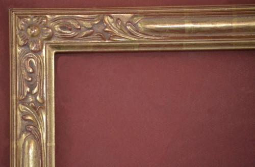 "C - 1987 - Hand Carved, Plein Air, 22 Karat Genuine Gold Leaf  Moulding Width 2 3/4""  X  1 3/4"" Hight  Rabbet Size: 3/4""  Hight  x  5/16"" Width"