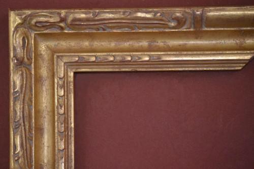 C-9076 Hand Carved, Plein Air, 22 Karat Genuine Pearl Gold leaf