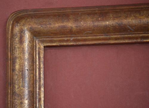 "C - 9086 - Hand Carved, Plein Air, 22 Karat Genuine Gold Leaf  Moulding Width 2 3/4""  X  1 3/4"" Hight  Rabbet Size: 3/4""  Hight  x  5/16"" Width"
