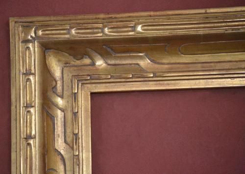 "C - 9237 - Hand Carved, Plein Air, 22 Karat Genuine Gold Leaf  Moulding Width 4 5/8""  X   1 3/4"" Hight  Rabbet Size: 1/2""  Hight  x  7/16"" Width"