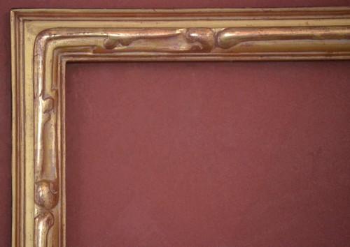 "C - 9256 - Hand Carved, Plein Air, 22 Karat Genuine Gold Leaf  Moulding Width 2 1/8""  X   1 5/8"" Hight  Rabbet Size: 5/8""  Hight  x  3/8"" Width"