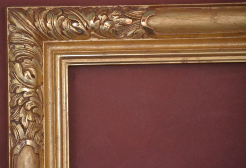 "C - 9258 - Hand Carved, Plein Air, Genuine 22 Karat Gold Leaf  Moulding Width 5""  X  1 3/4"" Hight  Rabbet Size: 7/16""  Hight  x  1/2"" Width"