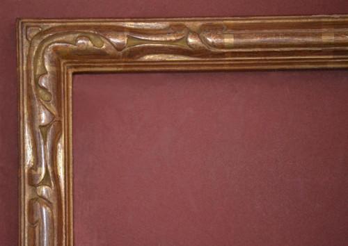"C - 9336-I - Hand Carved, Plein Air, Genuine 22 Karat Gold Leaf  Moulding Width 1 3/4""  X   1 1/2"" Hight  Rabbet Size: 5/8""  Hight  x  1/4"" Width"