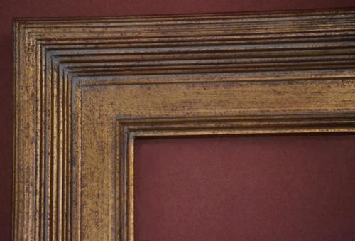 "C - 329 -    Gold Metal Leaf F Tone  Moulding Width  3 1/2""  X  1 3/4"" Hight  Rabbet Size: 3/8""  Hight  x  5/16"" Width"