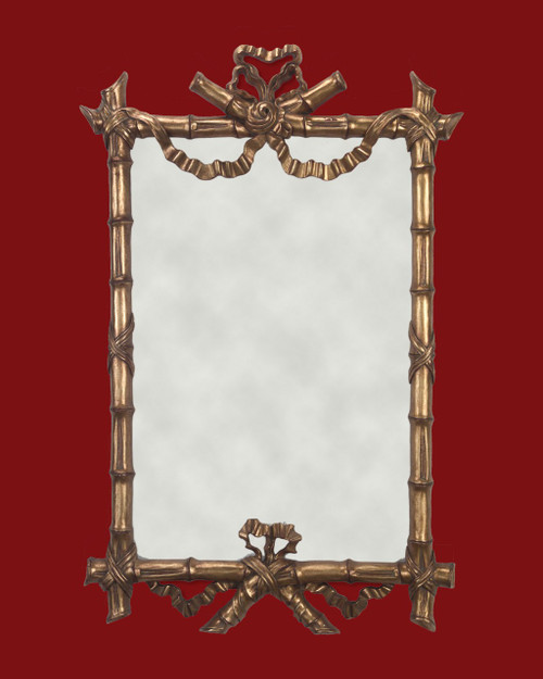 """Hand Carved Frame Gold Metal Leaf - 2"""" Wide Moulding  Art or Mirror size : 24"""" Wide  X  36 """" Hight - Mirror not included  Frame Outside Dimension: 48""""  x  30"""""""