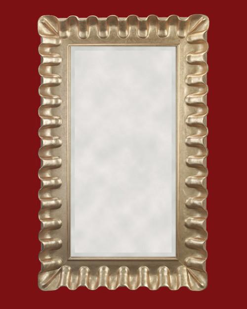 """Hand Carved Frame Gold Metal leaf - Moulding Width 6 3/4""""  Art or Mirror size : 24""""   X  48 """"  Frame Outside Dimension: 36 3/4""""  x  60 3/4"""""""