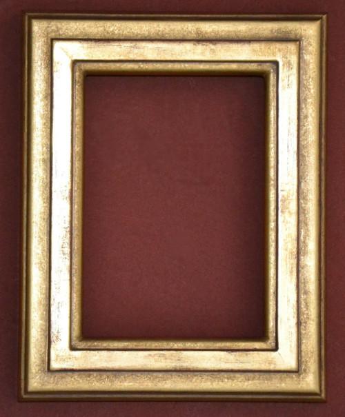 """FMOO77  - 22 Karat Genuine gold Leafed Frame - 1 1/2"""" Wide Moulding  Art size : 5""""  X  7""""  Frame outside dimension : 7 1/2""""  X 9 1/2"""""""
