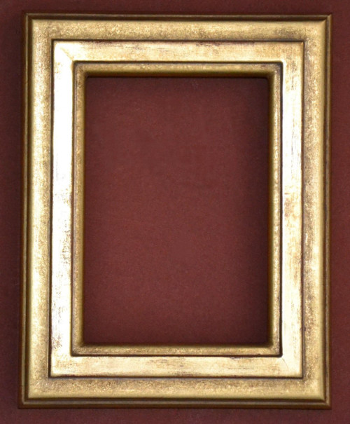"FMOO77  - 22 Karat Genuine gold Leafed Frame - 1 1/2"" Wide Moulding  Art size : 5""  X  7""  Frame outside dimension : 7 1/2""  X 9 1/2"""