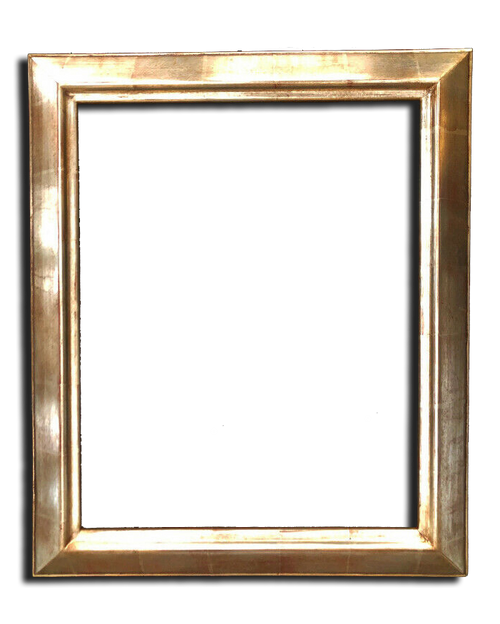 """16"""" x 20"""" Solid Wood Picture Frame Gilded In Genuine 12K White Gold"""