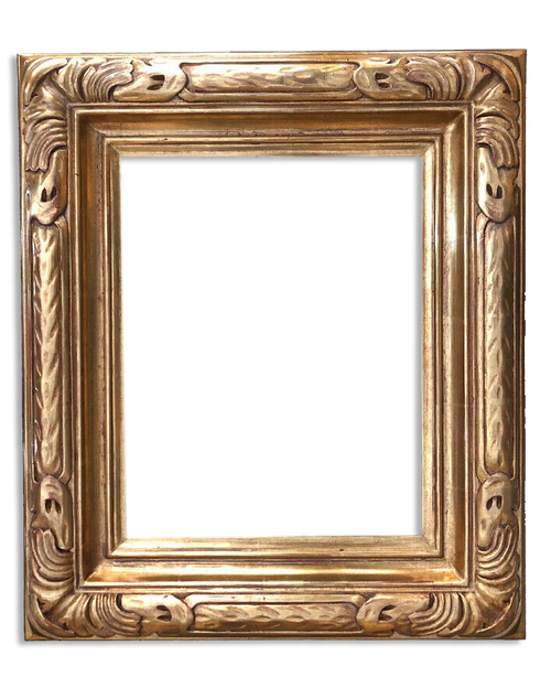 "11' x14"" Solid Wood Hand Craved Picture Frame Water Gilded in Genuine Gold Leaf"