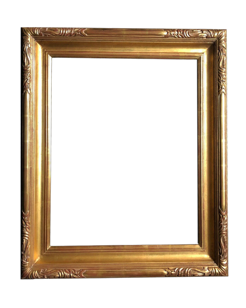 "24"" x 20 "" Hand Carve Picture Frame Water Gilded In Genuine 23.5K Gold Leaf"