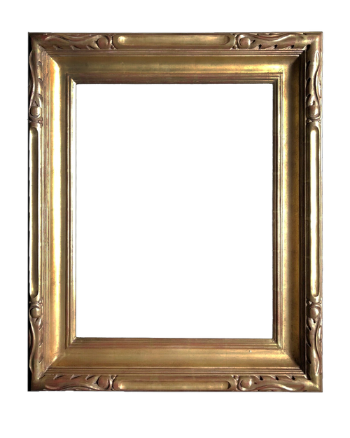 "20"" x 16"" Hand Carve Picture Frame Gilded In Genuine 22k Gold Leaf"