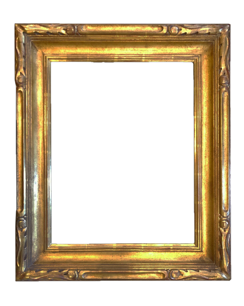 "20"" X 16"" Hand Carve Picture Frame Water Gilded in 23.5k Gold Leaf"