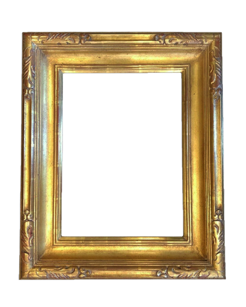 "16"" x 12"" Hand Carve Picture Frame Water Gilded in Genuine 23.5K Gold Leaf - T106A"