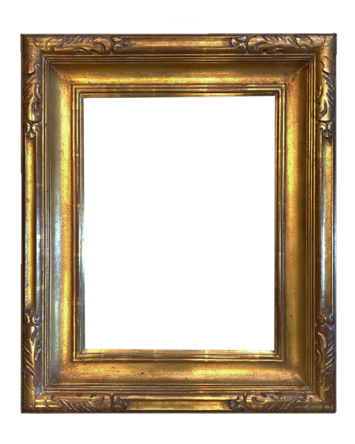 "16"" x 12"" Hand Carve Picture Frame Water Gilded in Genuine 23.5K Gold Leaf - T106B"
