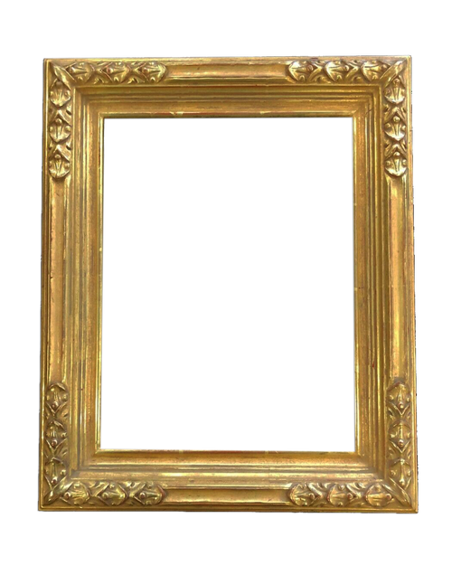 "2"" Wide 12"" x 9"" Hand Carve Picture Frame - Water gilded in genuine 22k Gold"