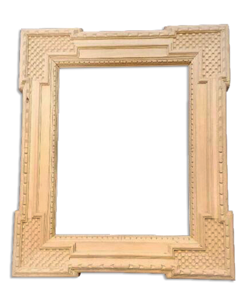 "13 15/8"" x 10 5/8"" Hand Carve Picture Frame - Raw / Unfinished"