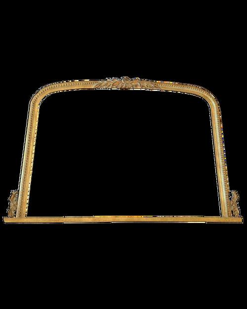 "35 4/16"" x 49 3/4"" Carved Wooden Mirror Frame Finished in Composition Gold Leaf"