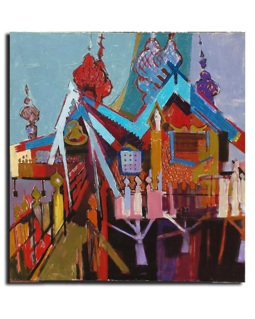 "Original Oil on Canvas By Herb Kornfeld (#1121) 30"" x 29"""