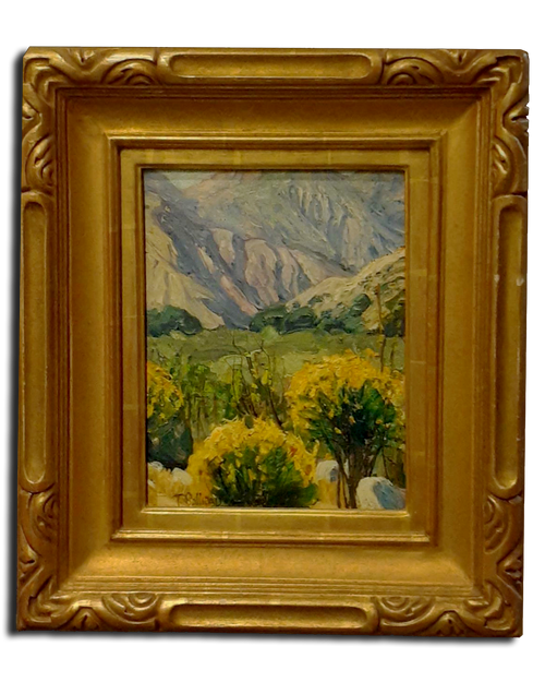 "11 1/4"" x 8 3/4"" Original Oil On Board By Tim Solliday 22k Gold Frame by R.Tobey"