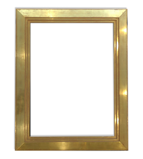 "6"" Wide - 38 "" x 25 "" Solid Wood Picture Frame, Gilded in Genuine 22K Gold Leaf"