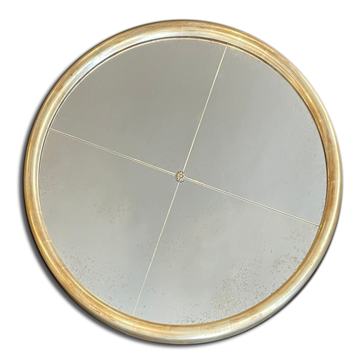 "1 1/4"" Wide 30"" Diameter Solid Wood Round Mirror"