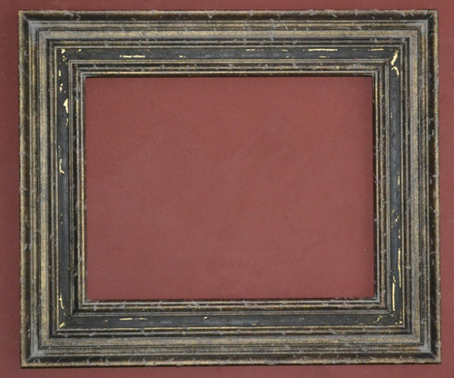 FMOO63  -   Gold Metal Leaf With Heavy Distressing & Antique Blck Panel