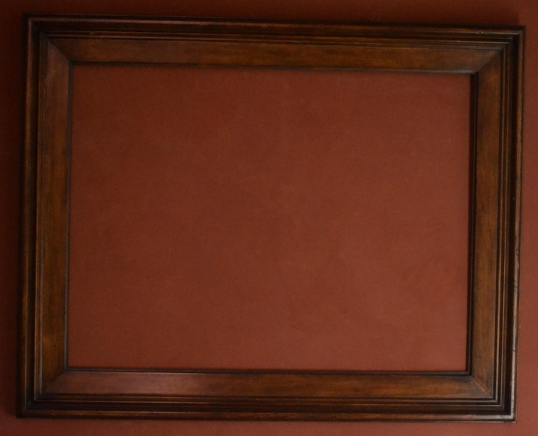 """FMOO106  -  Hand Stained & Lacquered Frame - 5"""" Wide Moulding  Art size : 30""""  X  40""""  Frame outside dimension : 40""""  X 50"""""""