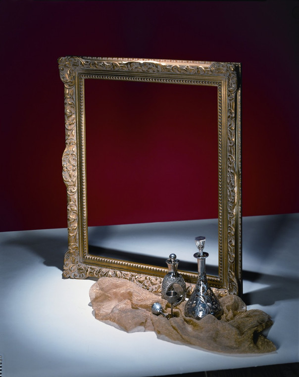 """FM 462 - Gold Metal Leaf F LT Tone, 3 3/4"""" Width  X  1 7/8"""" hight  The Frame in this Image is 24""""  x  30"""" (Art Size)"""