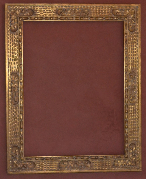 """FM 508 - Gold Metal Leaf M Tone, 5 1/8"""" Width  X  1 3/8"""" hight  The Frame in this Image is 30""""  x  40"""" (Art Size)"""