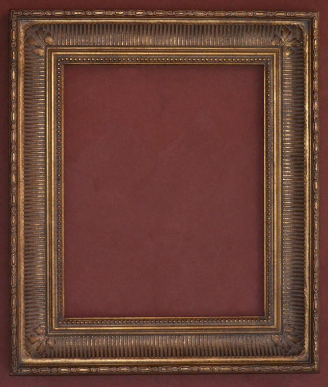 """FM 601 - Gold Metal Leaf F Tone, 4 1/8"""" Width  X  2 3/4"""" Hight  The Frame in this Image is 16""""  x  20"""" (Art Size)"""