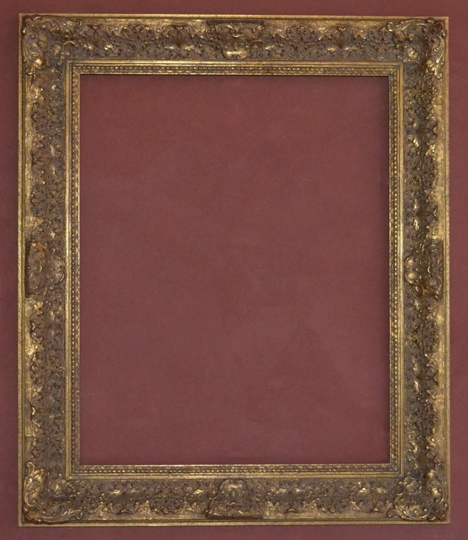 """FM 651 - Gold Metal Leaf Gray Wash Tone, 4 5/8"""" Width  X  1 3/4"""" Hight  The Frame in this Image is 24""""  x  30"""" (Art Size)"""